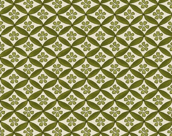1/2 yd Japanese Garden Geo Green Fabric by Maywood Studio MAS8086-G