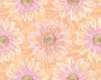 1/2 yd Shiny Objects Good as Gold Embossed Blooms Rose Gold Metallic Fabric by Flaurie & Finch for RJR Studios FF500-RO2M