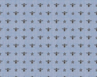 1/2 yd Something Blue Bees by Penny Rose for Riley Blake Fabrics C5544-BLUE