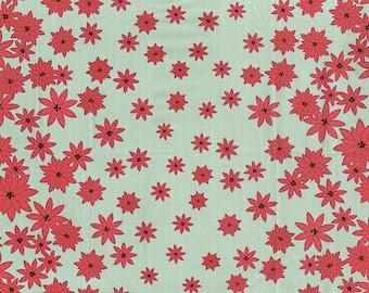 1/2 yd Winter's Lane Poinsettias by Kate & Birdie for Moda Fabrics 13091 14