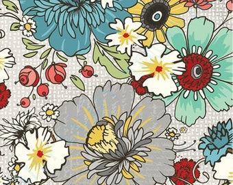1/2 yd Chamberry Hill Tan Flroral by Adornit Fabrics 00387