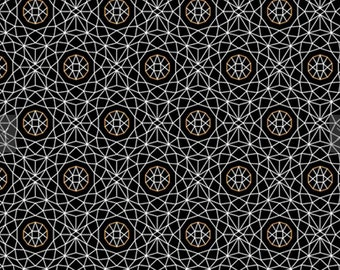 1/2 yd Whisper Geometric Fabric Black from Quilting Treasures 26767-J