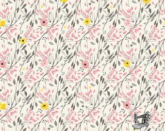 1/2 yd Petal Lane Sweet Cream Floral by Bo Bunny for Riley Blake C6921