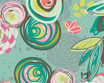 1/2 yd Chalk & Paint Sprayed Blooms by Caroline Hulse for Art Gallery Fabrics CHP-40200