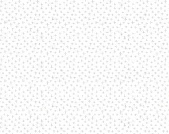 Simply White Plus Signs Fabric // Another Point of View // Windham Fabrics 51689-1 by the HALF YARD