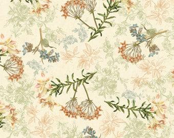 1/2 yd Oak Avenue Floral by David Textiles Fabric WA-2025-3C-1