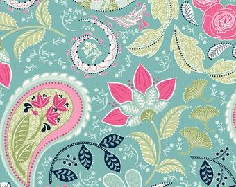 1/2 yd Boho Blooms Paisley by Nancy Archer for Studio E Fabrics 4967-17