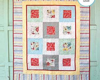 Adornit Chamberry Hip to be Square Fabric Quilt Kit 14015A