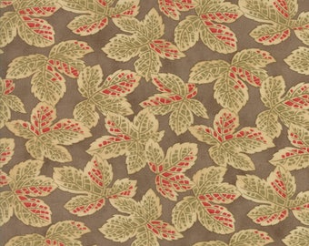 1/2 yd Courtyard Falling Leaves by 3 Sisters for Moda Fabrics 44123 19 Stone