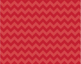 1/2 yd Riley Blake Sweetest Thing Knit Chevron Fabric by Zoe Pearn K2985 Red