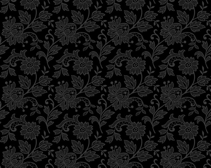 1/2 yd Bare Essentials Deluxe Black Tie Lace by RJR Fabrics 3319-003
