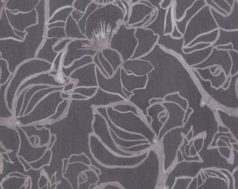 "END of BOLT 35"" Soft Repose Steel Magnolia by Shell Rummel for Free Spirit Fabrics PWSR002.8CLOV"