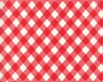 1/2 yd Bonnie & Camille Basics Gingham for Moda Fabric 55124 31 Red