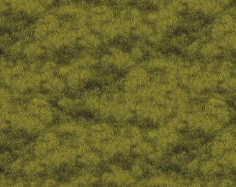 1/2 yd Majestic Outdoors Green Grass Fabric by Greg & Company for Riley Blake Designs C5576