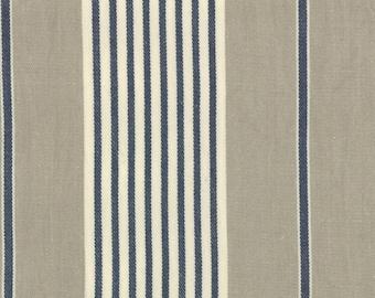 French General Panier De Fleur Stripes Woven Twill Fabric Moda by the Half Yard 12556 22