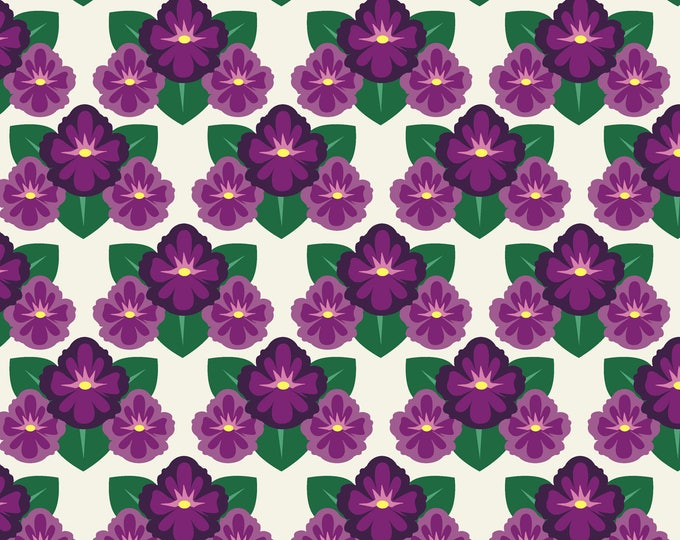 1/2 yd SALE Deco State Collection Rhode Island Violet by In The Beginning Fabrics IBFDES39DSF-1