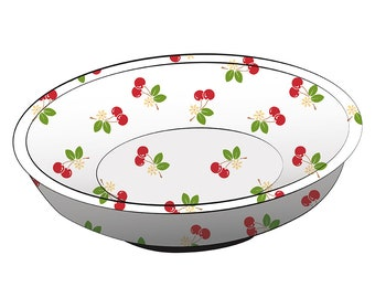 free shipping Magnetic Cherries Pin Bowl by Pleasant Home for Lori Holt & Riley Blake STMB-9657