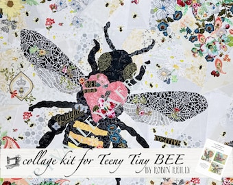 Collage Quilt Kit Teeny Tiny BEE // for Laura Heine's Collage Pattern FBWTT6