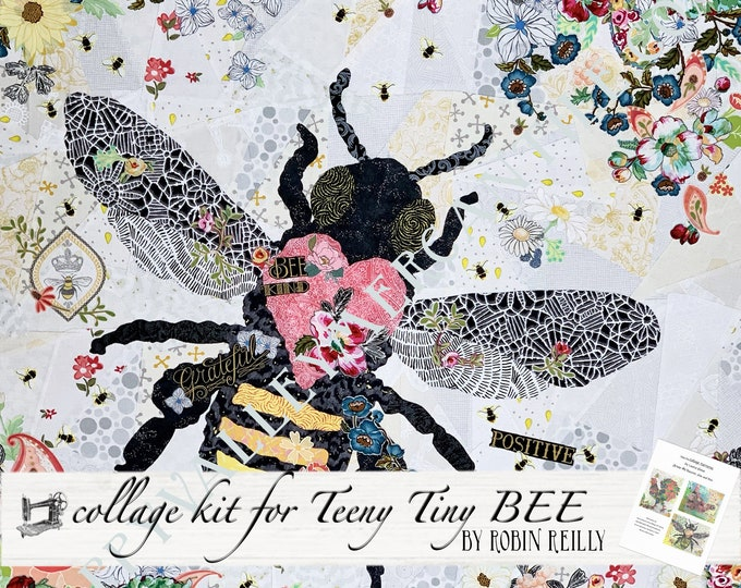 Featured listing image: Collage Quilt Kit Teeny Tiny BEE // for Laura Heine's Collage Pattern FBWTT6