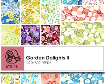 Garden Delights II Strips/Jelly Roll by In The Beginning Fabrics ST-IBFGDT