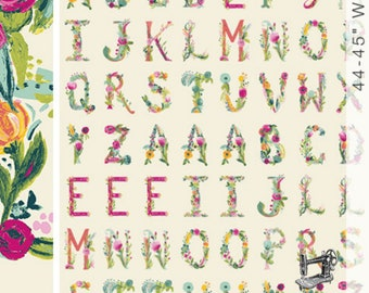 "Joie de Vivre Joyeux 34"" Alphabet Panel by Bari J. for Art Gallery Fabrics JOI-79129"