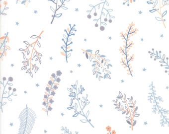 1/2 yd Wild & Free Wildflowers by Abi Hall for Moda Fabrics 35316 11 Cloud