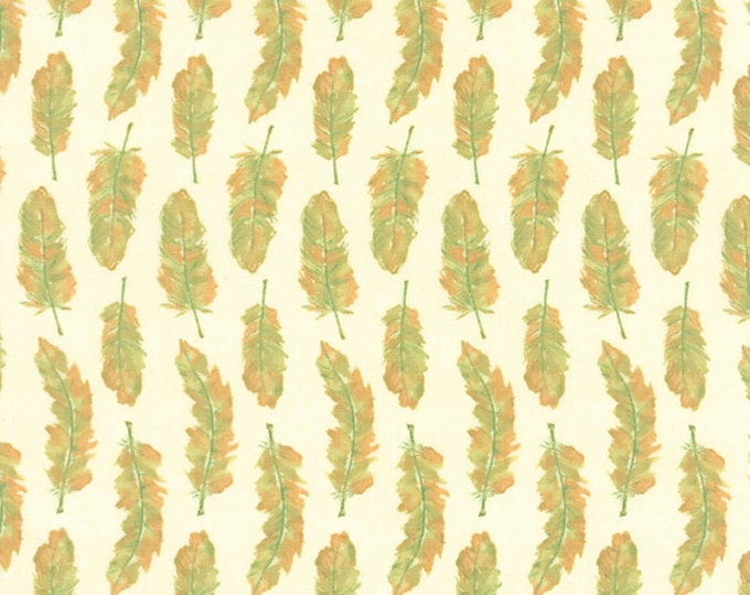 1/2 yd Refresh Feathers by Sandy Gervais for Moda Fabrics 17864 26 Grass