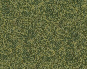 1/2 yd  Christmas Remembered Greenery Fabric by Lynette Jensen for RJR Studios 2770-001