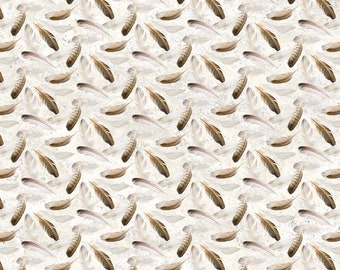 On Freedom's Wings Feather Toss Fabric // Northcott DP23212-10 by the Half Yard