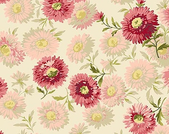 1/2 yd Sequoia Touch of Pink Daisies by Edyta Sitar for Andover/Makower Fabric A-8751-E