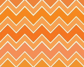 1/2 yd SALE Riley Blake Shaded Chevron Medium C780-14 BLAZE