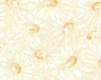 "END of BOLT 26"" Gentle Breeze Tonal Daisies Fabric by Jan Douglas for Maywood Studio MAS8513-E"