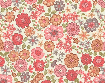 1/2 yd Flo's Little Flowers by Lewis & Irene Fabrics LEIFLO4-2