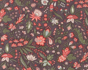 1/2 yd Quill Floral Flourish by 3 Sisters for Moda Fabrics 44153 16 Dark Mauve