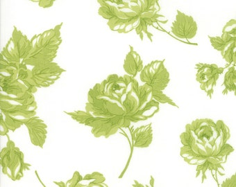 1/2 yd Smitten Rosy Large Floral by Bonnie & Camille for Moda Fabrics 55170 26 Green
