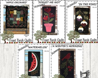 Skinnies Wool Stitchery by Front Porch Quilts