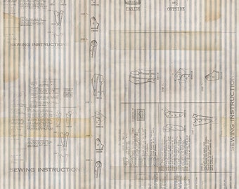 1/2 yd Memoranda 3 Sewing Instructions by Tim Holtz for FreeSpirit PWTH110.NEUTRAL