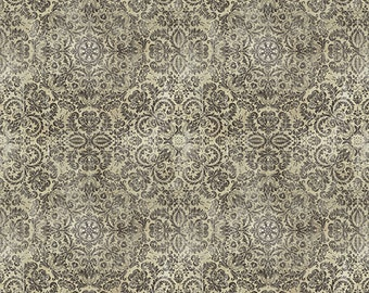 1/2 yd Materialize Gothic by Tim Holtz for FreeSpirit PWTH073.8NEUT