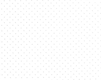 "END of BOLT 20"" Modern Background Silver Pindot Paper by Zen Chic for Moda Fabrics 1588 13"