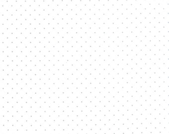 1/2 yd Modern Background Silver Pindot Paper by Zen Chic for Moda Fabrics 1588 13