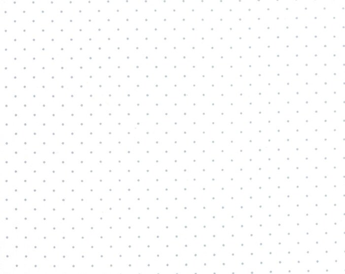 """END of BOLT 9"""" Modern Background Silver Pindot Paper by Zen Chic for Moda Fabrics 1588 13"""