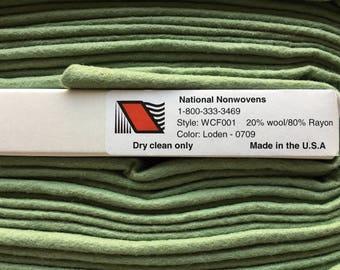 "1/2 yd 36"" Wool Felt Loden National Nonwovens #10 WCF001 0709"