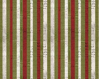 Tim Holtz Merriment Christmas // X-mas Stripe Fabric // FreeSpirit PWTH086.8MULTI by the Half Yard