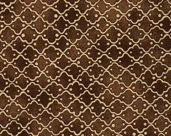 1/2 yd Riverwoods Lavender & Lace Tile Fabric from Troy 1604-5
