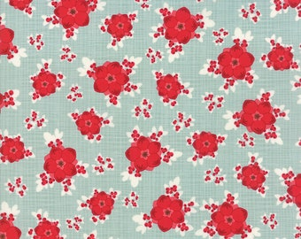 1/2 yd Return to Winter's Lane Berry Burst by Kate & Birdie Paper Co. for Moda Fabrics 13170 16 Mint