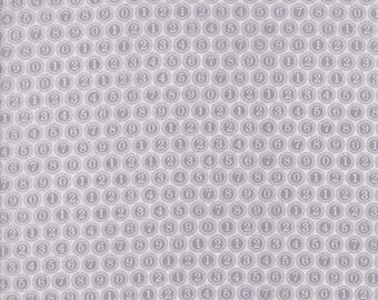 Compositions Type Keys Fabric // BasicGrey // Moda Fabrics 30454 16 Fog by the HALF YARD