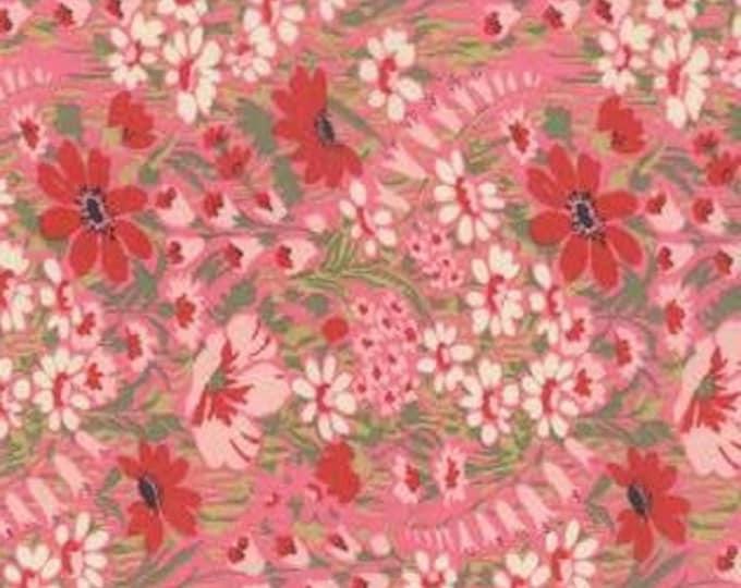 "END of BOLT 27"" Regent Street Lawns Pink Garden by Sentimental Studios for Moda Fabrics 32933 15 OOP"