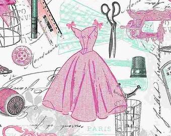Paris Atelier Dressmaker's Workshop Fabric // Timeless Treasures ERA-C8069 by the HALF YARD