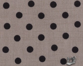 "END of BOLT 22"" Little Black Dress Polka Dot Fabric by BasicGrey for Moda 30307 14"