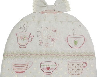 L'Heure du Thé Tea Time Embroidery Kit by Le Petit Atelier  #019
